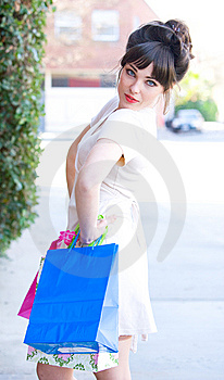 Attractive Young Woman Shopping Royalty Free Stock Photos - Image: 8650838