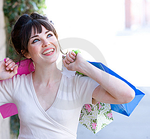 Attractive Young Woman Shopping Royalty Free Stock Photos - Image: 8650878