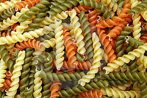 Spiral Pasta Background Royalty Free Stock Photos - Image: 8650978