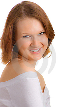 Happy Girl European Appearance Royalty Free Stock Images - Image: 8651059