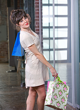 Attractive Young Woman Shopping Stock Photos - Image: 8651093