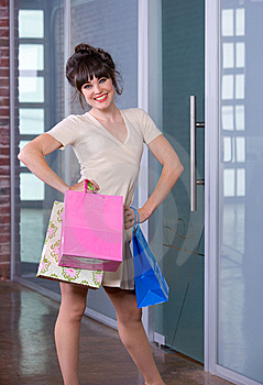 Attractive Young Woman Shopping Royalty Free Stock Photo - Image: 8651195