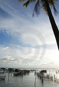 Vissersdorp. Royalty-vrije Stock Afbeelding - Afbeelding: 8651216