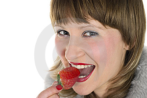 Strawberry Girl Royalty Free Stock Photography - Image: 8651307