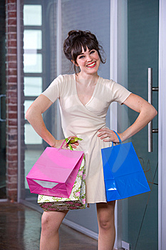 Attractive Young Woman Shopping Royalty Free Stock Images - Image: 8651319