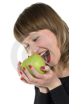Apple Girl Stock Image - Image: 8651341