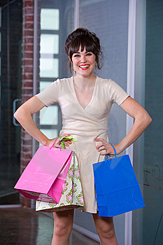 Attractive Young Woman Shopping Royalty Free Stock Photography - Image: 8651367