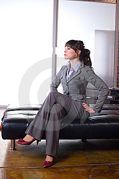 Business Woman Modern Office Royalty Free Stock Photography - Image: 8651477