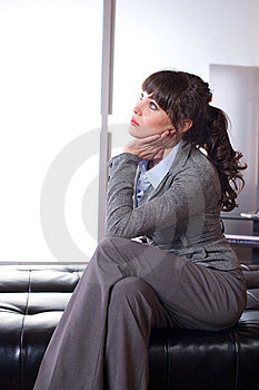Business Woman Thinking Stock Photo - Image: 8651590