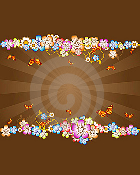 Fondo Floral Fotografía de archivo - Imagen: 8651612
