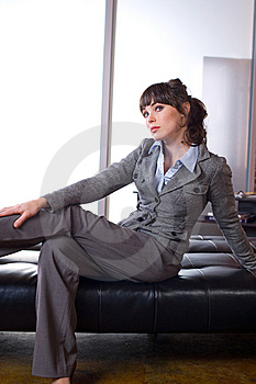 Business Woman Thinking Stock Photography - Image: 8651632