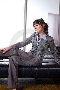 Pensamiento De La Mujer De Negocios Fotografía de archivo - Imagen: 8651632
