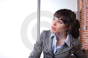 Business Woman In A Modern Office Royalty Free Stock Photos - Image: 8651698