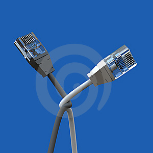 Ethernet Black And White Cable Royalty Free Stock Photo - Image: 8651715