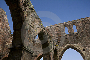 Round Arch Ruin And Blue Sky Stock Image - Image: 8651721