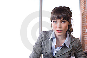 Business Woman In A Modern Office Royalty Free Stock Photography - Image: 8651727