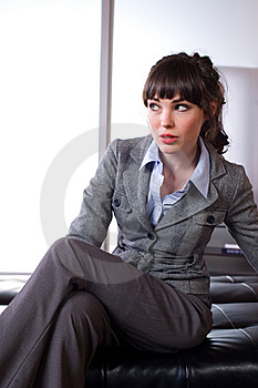 Business Woman In A Modern Office Stock Image - Image: 8651751