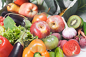 Vegetables & Fruits Isolated Royalty Free Stock Photo - Image: 8651755