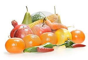 Gemüse U. Früchte Lokalisiert Stockfoto - Bild: 8651780