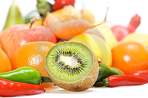 Vegetables & Fruits Isolated Royalty Free Stock Image - Image: 8651806