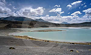 Blue Lake In Bolivia,Bolivia Royalty Free Stock Photo - Image: 8651815