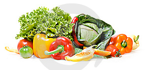 Vegetables Isolated Royalty Free Stock Photo - Image: 8651835