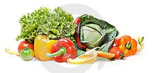 изолированные овощи Стоковое фото RF - изображение: 8651835