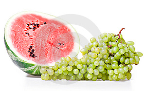 Watermelon & Grape Royalty Free Stock Photo - Image: 8651875