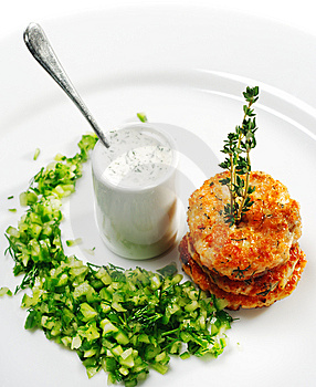 Appetizer - Mini Salmon Steak Stock Photos - Image: 8651903