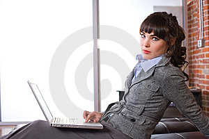 Business Woman Modern Office Royalty Free Stock Images - Image: 8652069