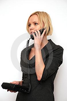 Conversation On A Phone Stock Image - Image: 8652291