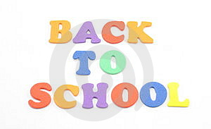 Back To School Foam Letters Stock Images - Image: 8652354
