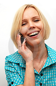 Conversation On A Mobile Phone Royalty Free Stock Image - Image: 8652496