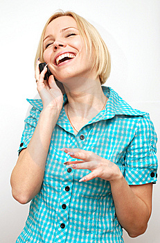 Conversation On A Mobile Phone Royalty Free Stock Photos - Image: 8652688