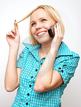Conversation On A Mobile Phone Royalty Free Stock Images - Image: 8652869