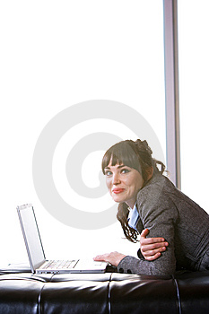 Business Woman Modern Office Royalty Free Stock Photography - Image: 8652907