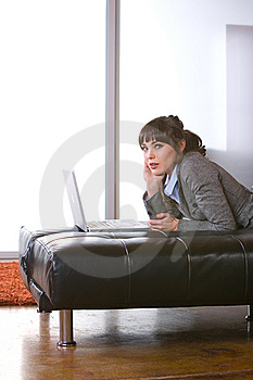Business Woman In A Modern Loft Office Royalty Free Stock Photography - Image: 8653057