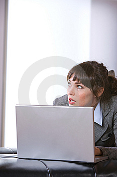 Business Woman In Modern Office Royalty Free Stock Images - Image: 8653109