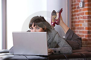 Business Woman In Modern Office Royalty Free Stock Images - Image: 8653219