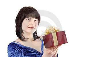 Girl With Gift Royalty Free Stock Photography - Image: 8653237