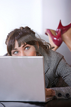 Business Woman In Modern Office Royalty Free Stock Images - Image: 8653239