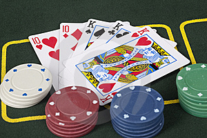 Full House Poker Hand Royalty Free Stock Photos - Image: 8653578