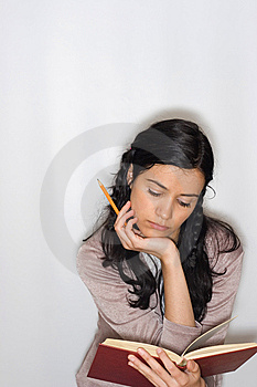 Young Woman Reading Book Royalty Free Stock Images - Image: 8653629