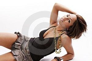 Bellezza Della Donna In Gonna Fotografia Stock Libera da Diritti - Immagine: 8653667