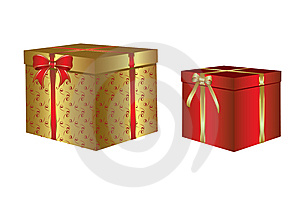 Box With A Christmas Gift Stock Image - Image: 8653781