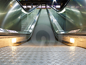 Escalator Stock Image - Image: 8653931