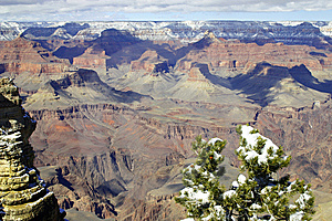 Grand- Canyonwinter Stockfotos - Bild: 8653993