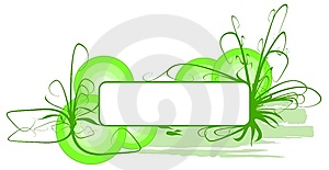 Vector Green Grass Banner Stock Photos - Image: 8654093