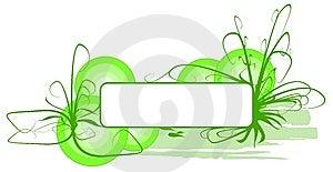 Bandera De La Hierba Verde Del Vector Fotos de archivo - Imagen: 8654093