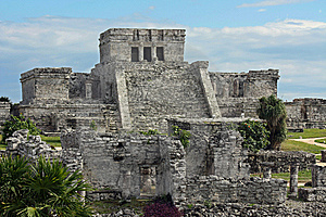 Tulum Ruins 1 Royalty Free Stock Photo - Image: 8654095